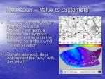 motivation value to customers
