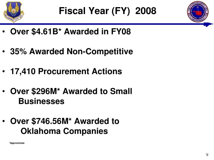 Fiscal Year (FY)  2008