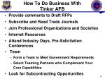 how to do business with tinker afb1