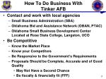 how to do business with tinker afb2