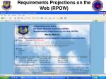 requirements projections on the web rpow