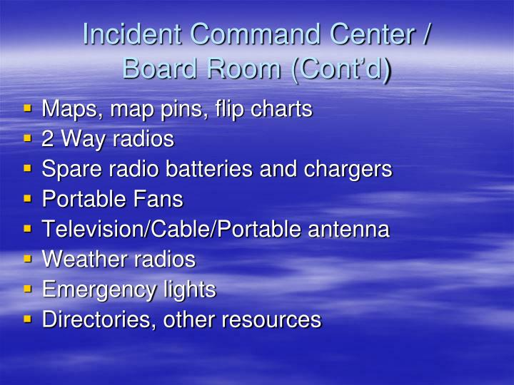 Incident Command Center /