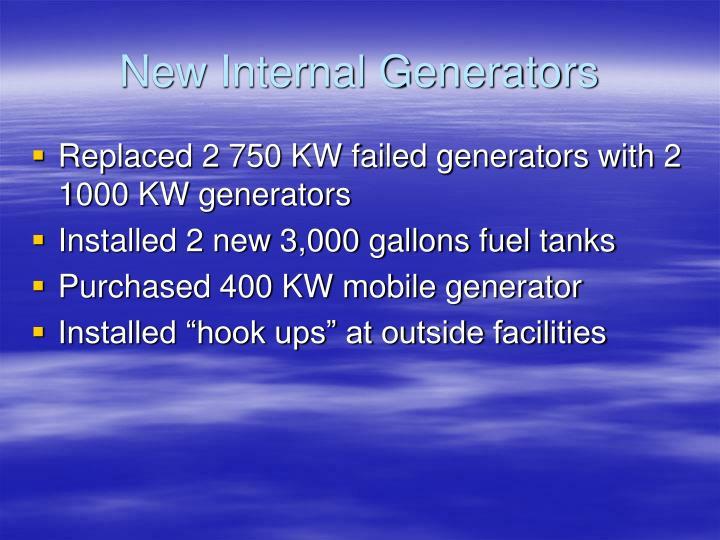 New Internal Generators