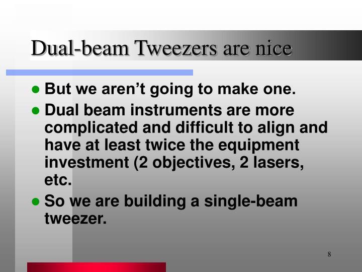 Dual-beam Tweezers are nice
