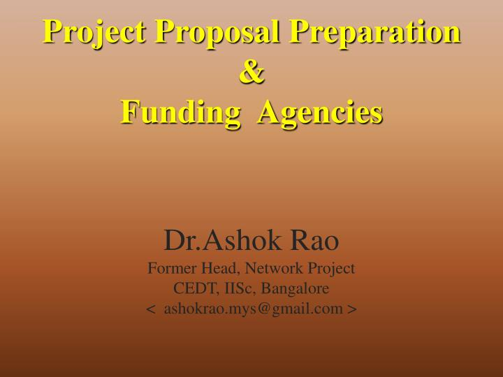 Project Proposal Preparation