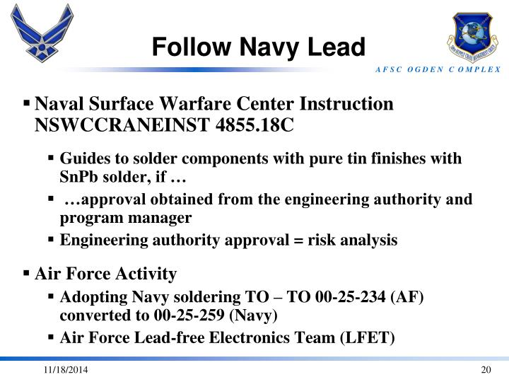 Follow Navy Lead