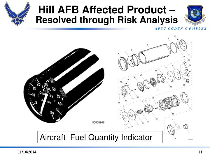 Hill AFB Affected Product –