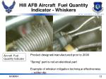 hill afb aircraft fuel quantity indicator whiskers