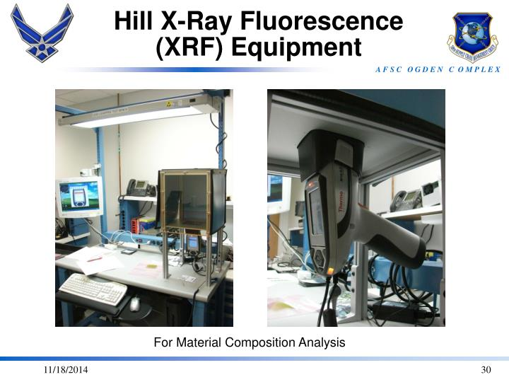 Hill X-Ray Fluorescence (XRF) Equipment