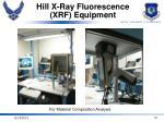 hill x ray fluorescence xrf equipment
