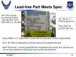 lead free part meets spec