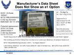 manufacturer s data sheet does not show an e1 option