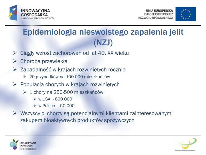 Epidemiologia nieswoistego zapalenia jelit (NZJ)