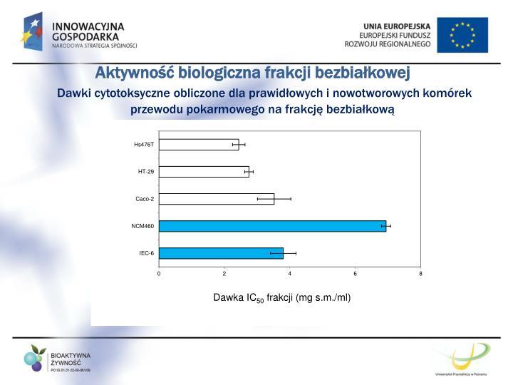 Aktywność biologiczna frakcji bezbiałkowej