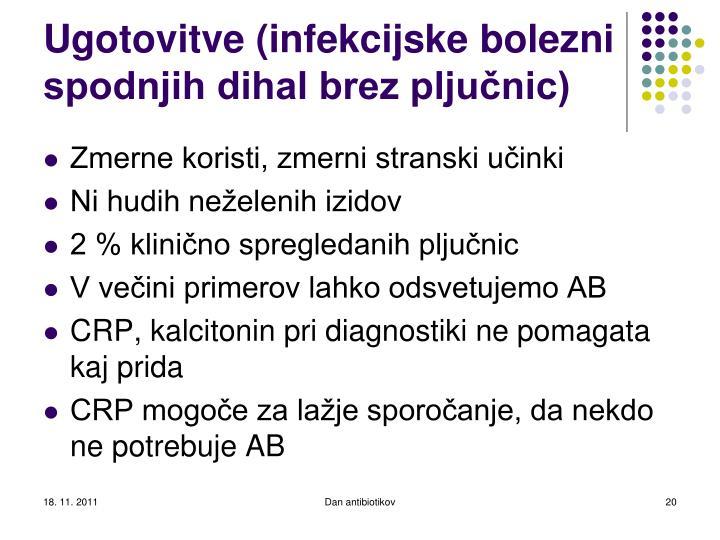 Ugotovitve (infekcijske bolezni spodnjih dihal brez pljučnic)