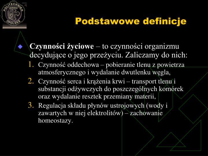 Podstawowe definicje