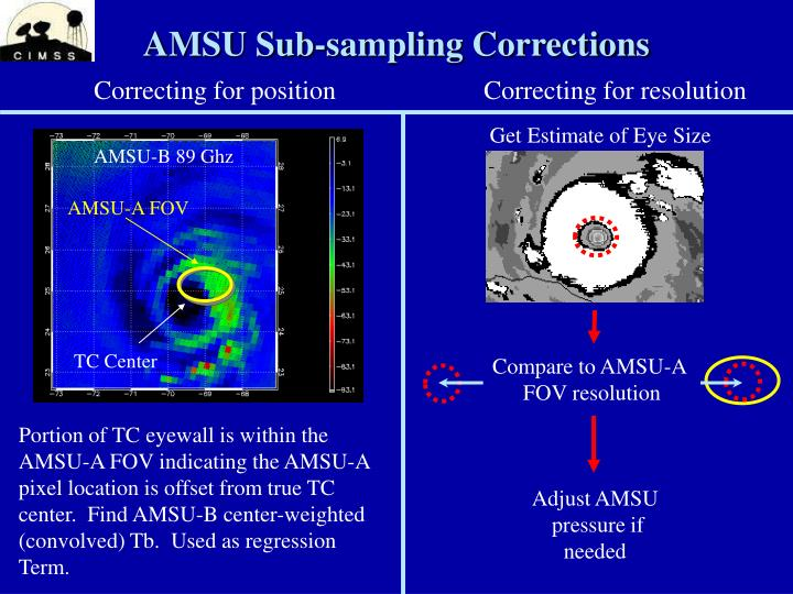 AMSU Sub-sampling Corrections