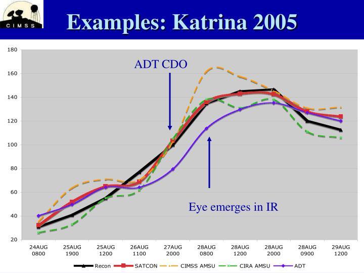 Examples: Katrina 2005