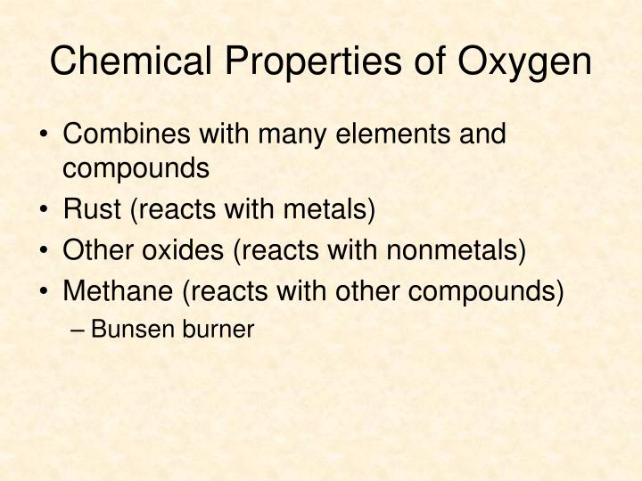 Chemical Properties of Oxygen