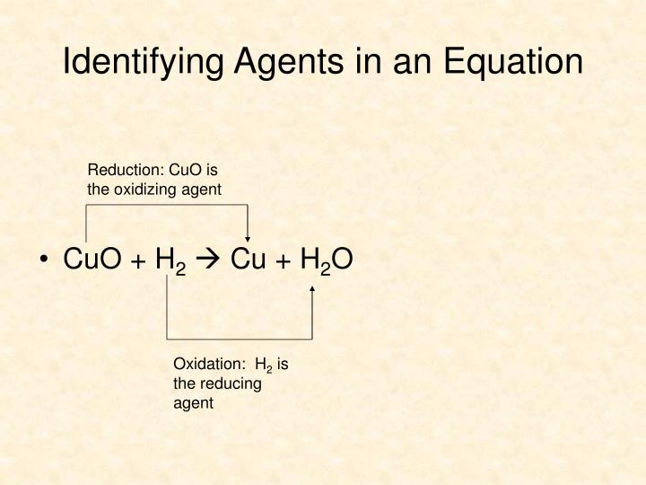 Identifying Agents in an Equation