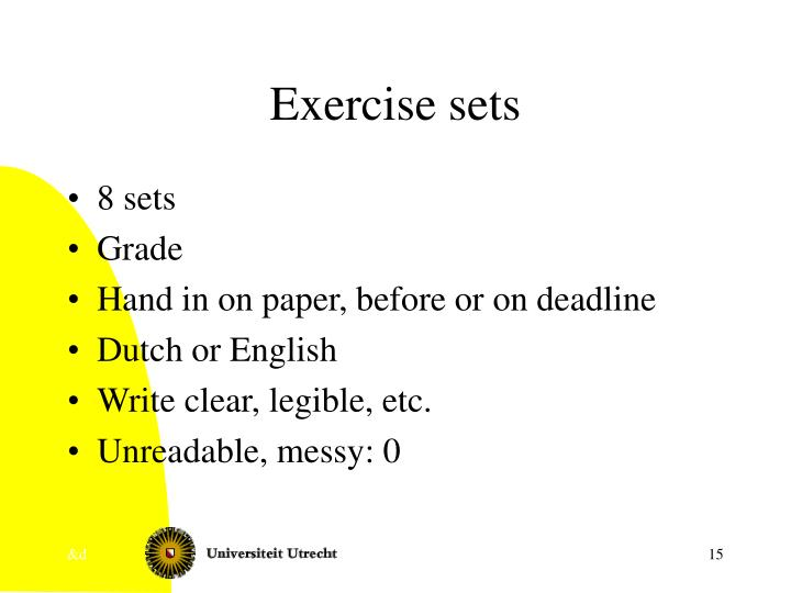 Exercise sets