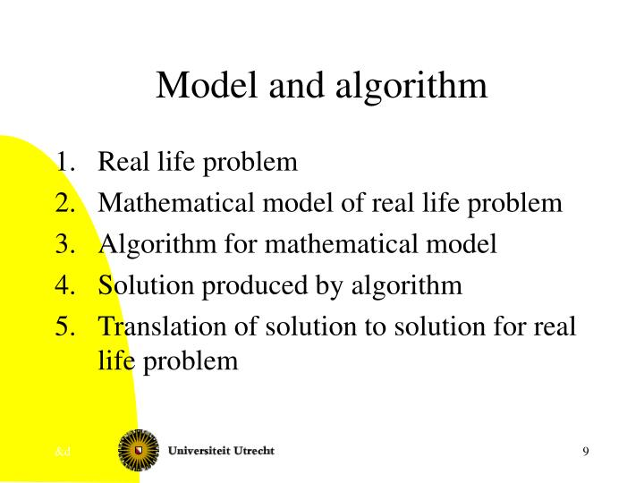 Model and algorithm