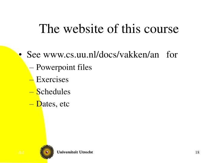The website of this course