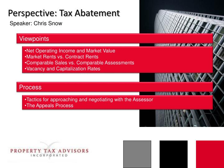 Perspective: Tax Abatement