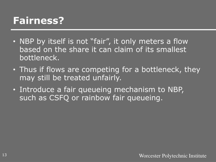 Fairness?