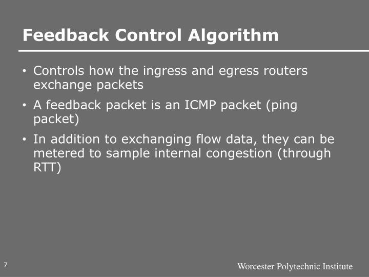 Feedback Control Algorithm