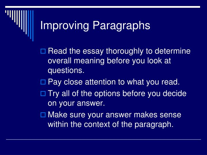 Improving Paragraphs