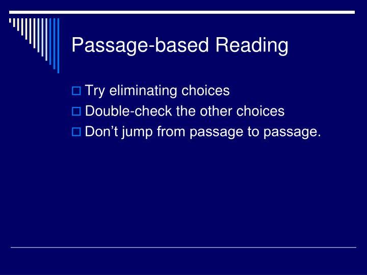 Passage-based Reading