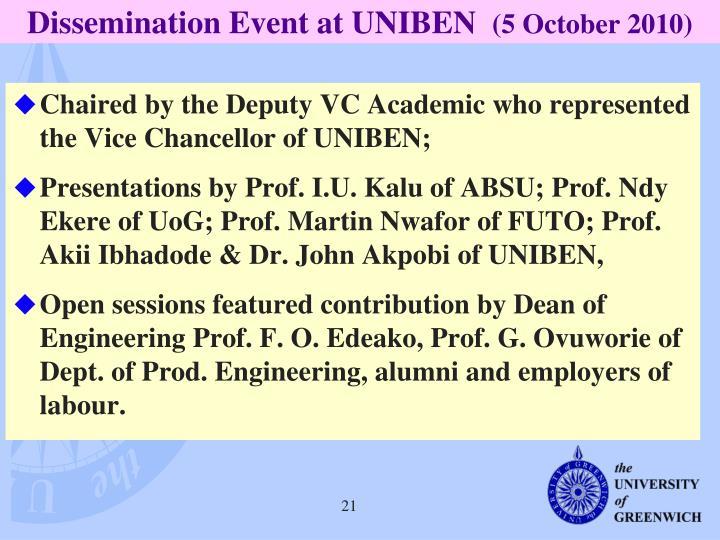 Dissemination Event