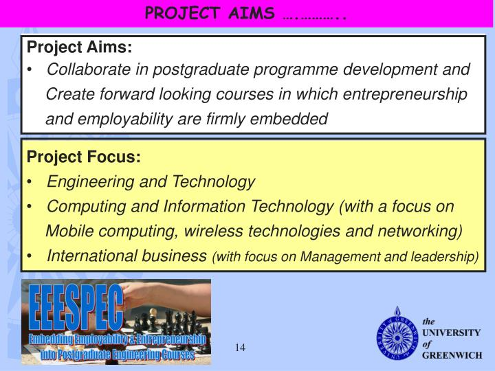 PROJECT AIMS ….………..