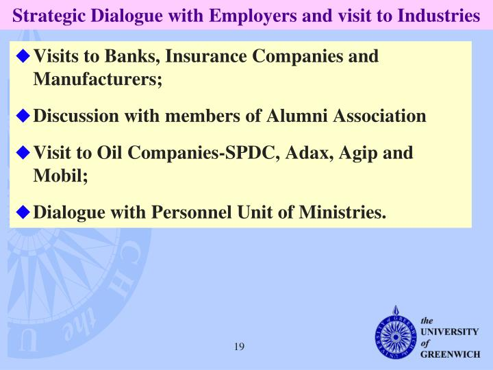 Strategic Dialogue with Employers and visit to Industries