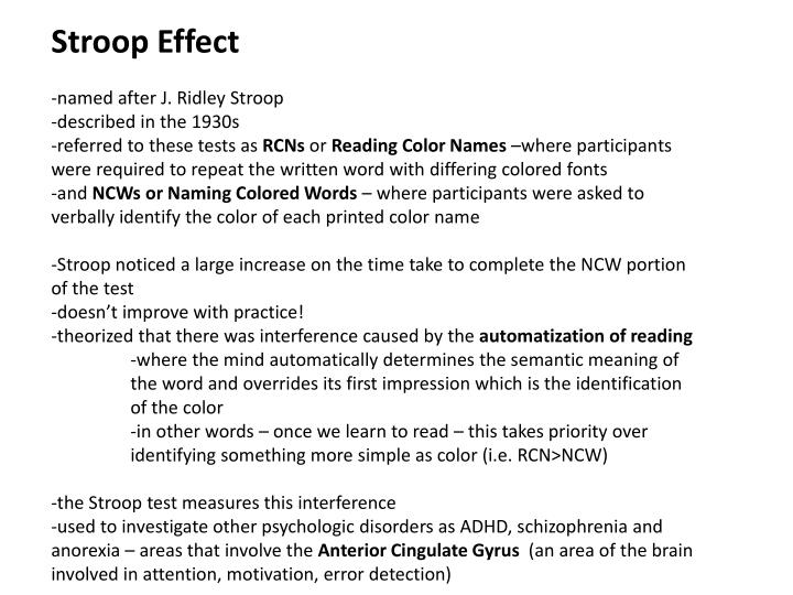 lab report the stroop effect