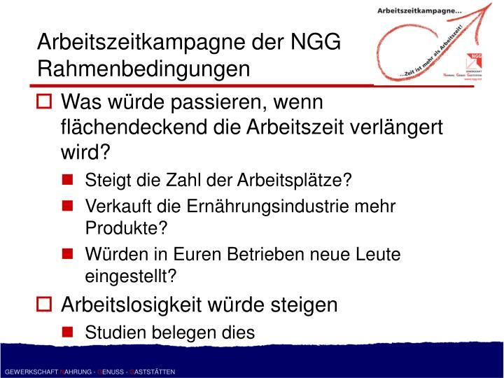 Arbeitszeitkampagne der NGG