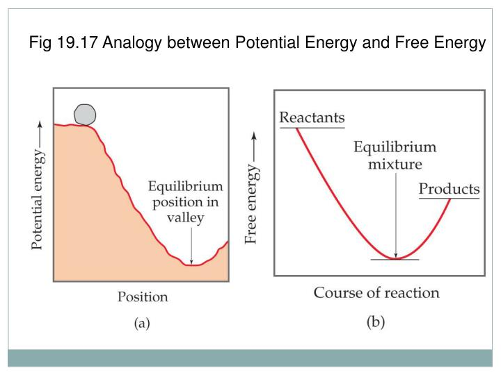 Fig 19.17 Analogy between Potential Energy and Free Energy