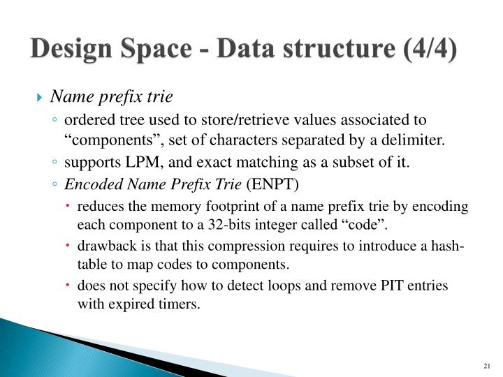 Design Space - Data structure (