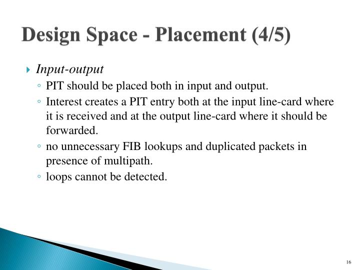 Design Space - Placement