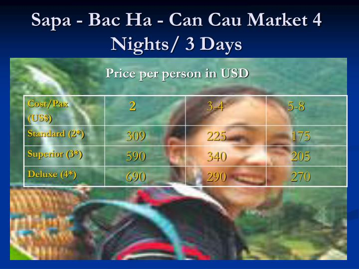 Sapa - Bac Ha - Can Cau Market 4 Nights/ 3 Days