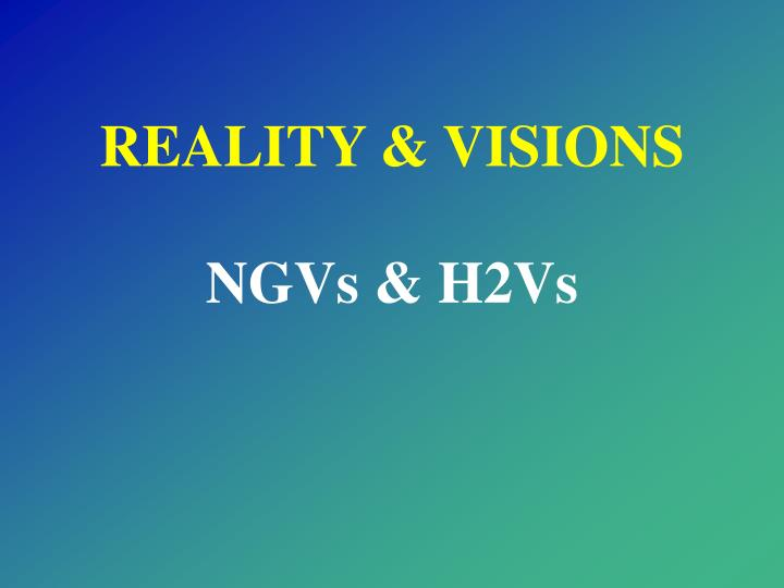 REALITY & VISIONS