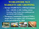worldwide ngv markets are growing1