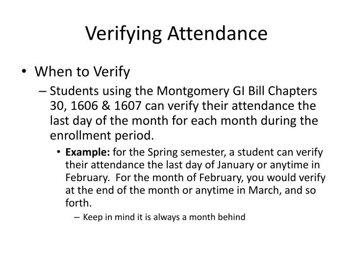 Verifying Attendance