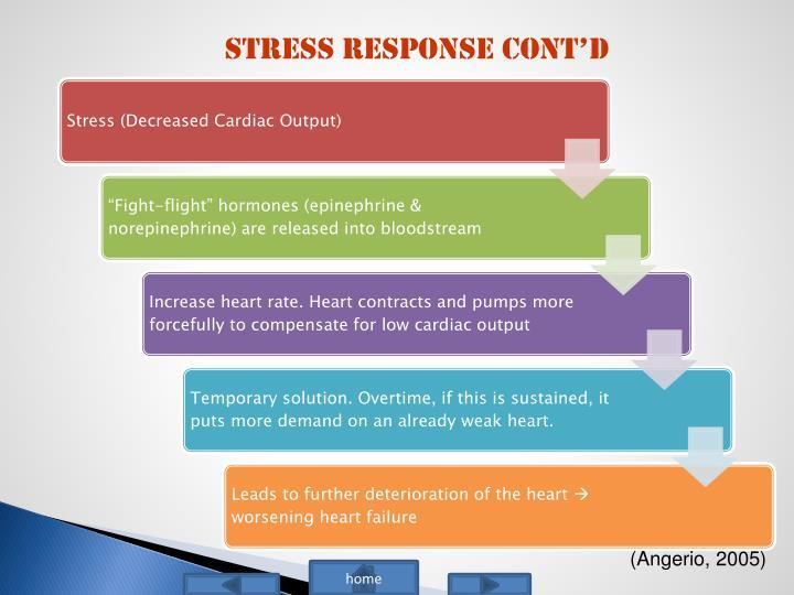 Stress Response Cont'd