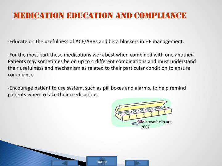 Medication Education and Compliance
