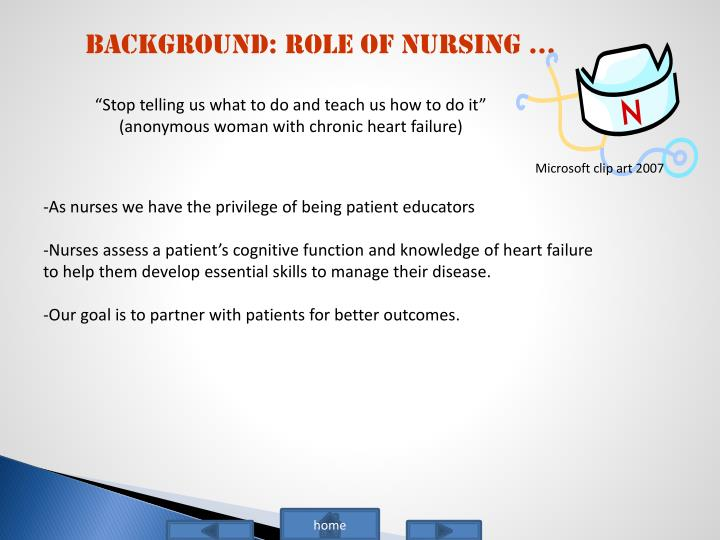 Background: Role of Nursing …