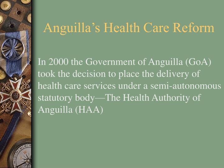 Anguilla's Health Care Reform