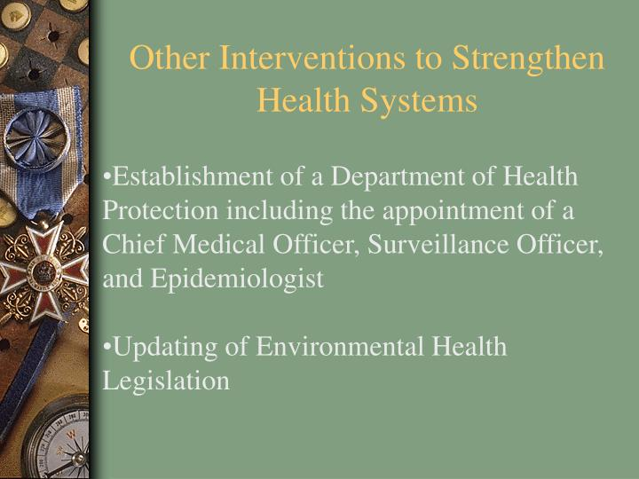 Other Interventions to Strengthen Health Systems