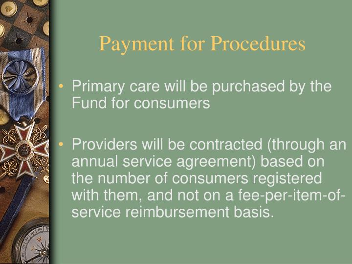 Payment for Procedures